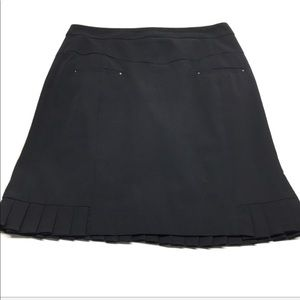 • Nanette Lepor Pleated Black Career Skirt C28
